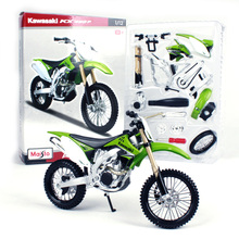 Maisto 1:12 Kawasaki Motorcycle Toy, Alloy & ABS KX450F Assembly Kit, Adult Collectable Models, Kids Toys, Brinquedos Boys Gift