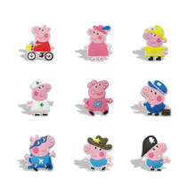 New 9pcs/lot of Pink pig Cartoon Magnet Refrigerator stickers School Kid Party Gift toy