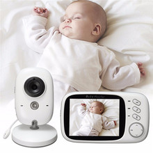 3.2 inch baba electronics fetal doppler 8 Lullabies Temperature monitor 2 way Talk digital baby monitor camera with night vision