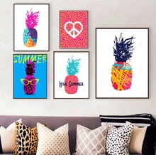 Painting Frameless paintings Abstract watercolor painting pineapple fruit bedroom living room environmental protection deco