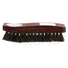 Practical Horse Hair Professional Shoe Shine Polish Buffing Brush Wooden New H06