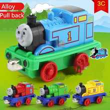 1:100 alloy trains , Thomas train (4 Pack) ,Children favorite Cartoon model, metal casting, toy trains , free shipping
