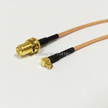 "RF RP SMA  Female Switch MMCX Male Right Angle Pigtail Cable RG316 15CM 6"" Wholesale Fast Ship"