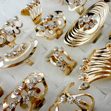 20pcs Mix Style Zinc Alloy Gold Band Ring Adjustable Toe Ring for Women Men Wholesale Jewelry Rings Lots LR475