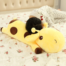 40CM One Piece Kids Cute Lying Giraffe Plush Toys Soft PP Cotton Stuffed Dolls Baby Birthday Happy Gifts For Children 5 Colors