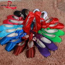 High Quality Material Professional Girl's Ballet point shoes Various Color/Red Dancing Shoes Kids' Sneakers(China)
