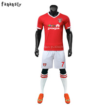 Top quality soccer jerseys 2017 customized football kits men DIY soccer jerseys short sleeve uniforms training suits new(China)
