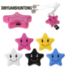 XINYUANSHUNTONG MP3 Star Shape MP3 Music Media Player Support Micro SD Card + USB Cable Earphone(China)