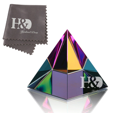 H&D 2'' Egypt Egyptian Crystal Pyramid Paperweight in Gift BOX Energy Healing Feng Shui with Free Crystal Wipes Home Decor(China)