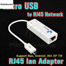 Kebidumei 100Mbps Micro USB 2.0 RJ45 Network Lan Adapter Card Micro USB For Mac OS Android Tablet PC Laptop Smart TV Win 7 8 10
