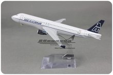 Brand New 1/250 Scale Airplane Model Toys Mexican Airlines Airbus A320 (16cm) Length Diecast Metal Plane Model Toy For Gift