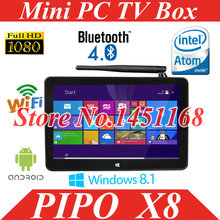 Tv Box Pipo X8 Mini PC Windows 8.1 With Bing  Android 4.4 Dual Boot OS Intel  Quad Core 2GB / 32GB Tv Box 7 Inch Screen Tablet