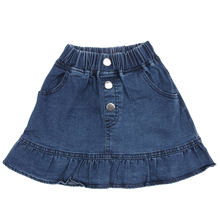 New Girls Summer Denim Ruffled Skirts Girls Jeans Skirt Baby Girls Party Jean Skirt Children Kids Fashion Girls Clothing(China)