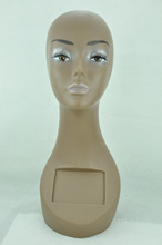 "18"" tall PVC Rubber Mannequin Manikin Head Necklace/Cap/Wig Display BY17(China)"