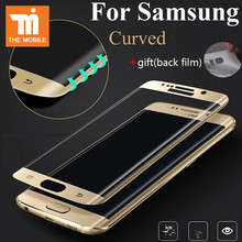 9H 3D Curved Surface Full Screen Cover Explosion-proof Tempered Glass Film for Samsung Galaxy S6 edge S7 Edge Screen Protector