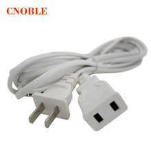 Mini power two core two plug thread extension cord line High power plug wire 0.5meter cable 5pcs(China)