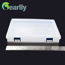 25*18*4cm lure Fishing Box Compartments changeable Transparent Visible Plastic Fishing Lure Box Durable Fishing Tackle Box(China)