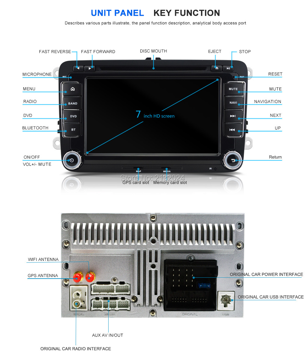 Quad core 2 din android 6.0 universal Car Radio Double Car DVD GPS Navigation In dash Car PC Stereo video free shipping