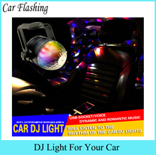Car Flashing 1 Pcs sound control RGB Music rhythm activated DJ disco stage effects cigar lighter mini LED car decoration light
