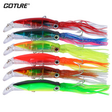 Goture 6pcs/lot Squid Lure Wobblers 14cm 40g Fishing Lures For Trolling Bionic Artificial Hard Bait Squid Jigs Fishing Wobblers(China)