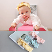 Bebe Girl Headband Tie knot Hair Band Kids Hair Bows Children Headwrap Turban Solid Comfortable Headwear Hair Accessories