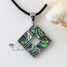 heart square rainbow abalone oyster shell necklaces pendants 2013 handmade fashion jewelry