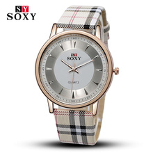 Women Watches British Plaid Stripe Quartz Round Dial Casual Fashion Watch Unisex Leather Wristwatch Major Reloje Christmas Gift!