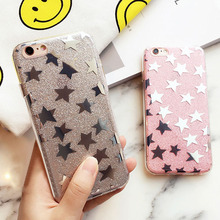 Luxury Glitter Star Case for Apple iphone 6 6s 6 Plus 6s 5 5S Cases Ultra Thin Soft TPU Silicon Phone Bags Capa For iPhone 6 6S(China)