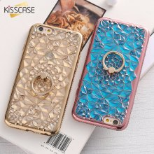 For iPhone 6 Case KISSCASE Bling Glitter Diamond Soft TPU Phone Cases For iPhone 6s iPhone 6 6s Plus Case With Ring Holder Cover