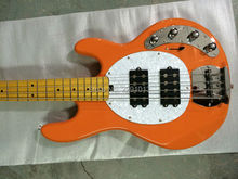 BEST 4 strings musicman bass guitar sting ray bass model Orange color Free shipping