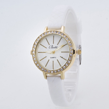 2016 New ybotti Brand Gold Small Dial Casual Quartz Watch Women Crystal Silicone Strap Dress Watches Relogio Feminino Clock Hot