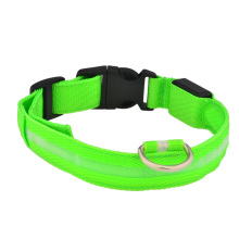 Creative Fashion Safety Pet Dogs Collar Flashing LED Lights up the Collar Green