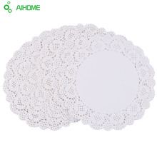 100 Pcs White Round Lace Paper Doilies / Doyleys,Vintage Coasters / Placemat Craft Wedding Christmas Table Decoration 6.5 Inch