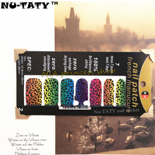 Nu-TATY Blue & Yellow Leopard Nail Arts Nail Sticker Waterproof Nail Decal Sticker Gel Polish French Manicure Patch Makeup Tools