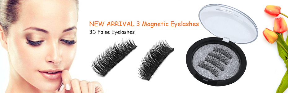 71e286c2803 Natural 4pcs/pair 3 Magnetic Eyelashes 3D False Eyelashes With 3 Magnets  Handmade Fake Lashes Extension With Gift Box