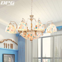 Tiffany pendant lamps sconce Gold tiffany light conch glass for bedroom living room ceiling lighting fixtures(China)