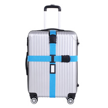 Suitcase Belt Packing Luggage Straps Cross Style Travel Suitcase Nylon Non-Lock Buckle strap baggage belt ( Only Sell the Strap)