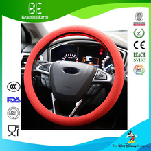 China factory Fashion Anti Slip Silicone Shrink Car Steering Wheel Cover(China)