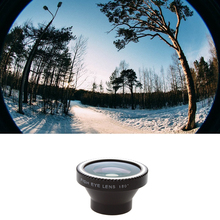 30pcs/lot 180 Fisheye Camera digital Detachable Lens kit For iPhone 4 5 Samsung S3 S4 LUMIA 920 Free Shipping CL-2(China)