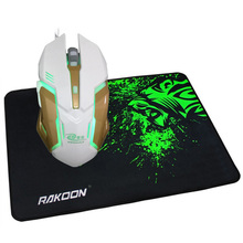 Professional 6 Buttons 3200DPI Gaming Mouse USB Wired Optical Computer Game Mouse Mice+Gaming Mouse Pad Gift for PC Laptop