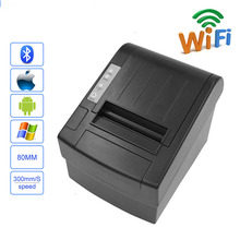 New upgrade Wifi POS 80mm Thermal Receipt bills Printer for Android/IOS 300mm/s Auto-cutter Wifi Printer free shipping