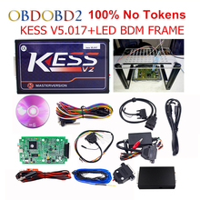 KESS V5.017 V2.23 + LED BDM FRAME 100% No Token Used Online Master Kess V2 5.017 OBD2 Manager Tuning Kit For Car/Truck/Tractor