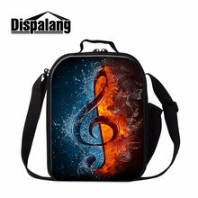 Dispalang Unique Art Lunch Bags for Children School Musical Notes Insulated Cooler Bags Kids Samll Handbag Lunch Container Food