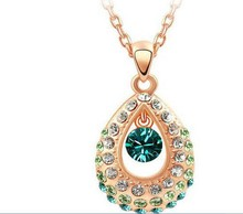 promotions india princess crystal pendant necklace angel tear charm necklace