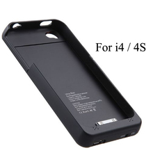 NEWDERY 1900mAh External power bank Charger pack backup battery case for i 4 4s with USB cable