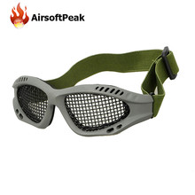 AIRSOFTPEAK Outdoor Paintball Goggle Hunting Airsoft Net Eyewear Tactical Eyes Protection Eyeglasses Sports Metal Mesh Glasses(China)