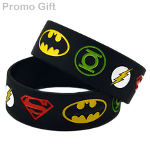 Promo Gift 25PCS/Lot Super Heroes Silicone Wristband, Perfect To Use In Any Benefits Gift For Gamers(China)