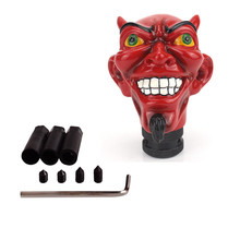 Personalized Red Devil Satan Skull Gear Stick Shift Knob for Automatic Manual Shifter Knobs Car Truck Styling Skull Shift Knob