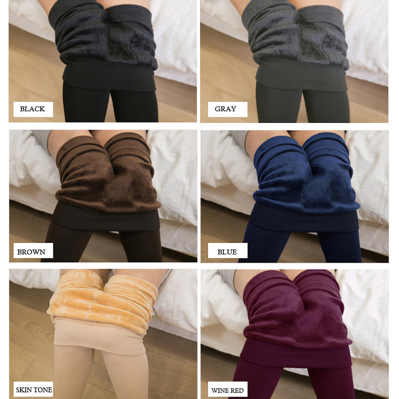 WOMENS LADIES WINTER FLEECE THERMAL WARM THICK FULL LENGTH LEGGINGS PLUS SIZE