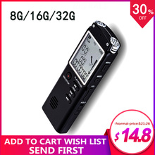 Flash Digital voice recorder Dictafoon 8g/16g/32g 60 Uur opname Magnetische professionele HD Dictafoon denoise WAV, MP3 Playe(China)